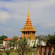 This is a replica of a sacred temple building in Saraburi Province which supposedly houses the imprint of the Buddha's footprint