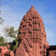 The Phanom Rung Sanctury in the Province of Buri Ram was a religious centre between the 10th and 13th centuries. Modelled here is a tower-like shrine or prang
