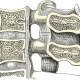 Median sagittal section of two lumbar vertebræ and their ligaments.