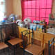 The chairs and other furniture along with the groceries sufficient for a a month.