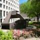 High Plains Drifter sculpture seen from different angles.