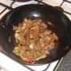 Soy sauce is added to turkey stir fry