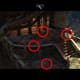 Study this screencap. If Siris reaches the balcony from Gargap's Tree, several hotspots are in view that are concealed from the other entry points.