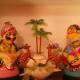 Pair of famous Kondapalli toys at a house in Vijayawada