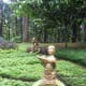 Some sculptures in the garden.
