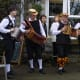 Musicians providing the lively music for the dancers of the Shakespeare Morris Side