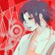Ishida's illustration of Sasuke Uchiha from Naruto.