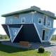 The Upside-Down House in Trassenheide, Germany