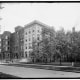 """White Cross Hospital, also called """"Protestant Hospital"""" after its small former building nearby. This building stood at the lake in the park on the corner of Park Street and Buttles Avenue."""