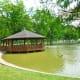 Arthur Storey Park pavilion on water