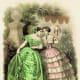 1878: Victorian silk ball gowns for summer