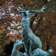 This attractive bronze sculpture dates from 1885 and is entitled Herd of Deer. It was created by Arthur Jacques Leduc