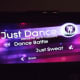 Opening screen for Just Dance 2 on the Wii.