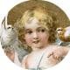 Free vintage Valentine's Day angel clip art