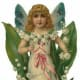 Free vintage Valentine's Day angel with flowers