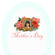 """Aqua Mother's Day scrapbooking embellishment """"Mother's Day"""""""