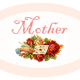 """Peach Mother's Day scrapbook embellishment """"Mother"""""""