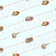 Free vintage Mother's Day scrapbook paper -- aqua  background with fancy scrollwork