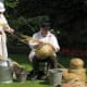 Making the traditional beehives called skeps.