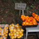 Tamago Moffle photographed this shop in Nara prefecture, Japan  on January 10, 2010.  Satsumas are on the right, and oranges are on the left.
