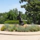 Western Bronze Sculptures found outside the Gilcrease Museum