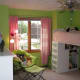 pink and lime green nursery