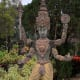 A Hindu deity in the park. So many statues are packed into a relatively small area