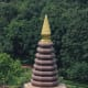 Visible from Phu Thok is this temple pagoda, called Wat Chetiya Khiri Wihan, built in 1968 and set in attractive landscaped grounds
