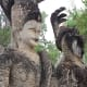Two more of the visually intriguing statues to be found on a visit to Salakeoku