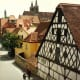 Many cross-timbered houses in Rothenburg