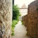 Portion of walk along city wall in Rothenburg