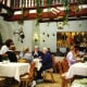 Cafe inside of The Master Builder's House in Rothenburg