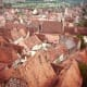 Red roofed buildings of Rothenburg