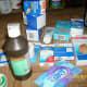 Various items for the first aid kit.