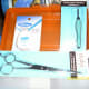 Dental Floss (good suture thread), tweezers and scissors