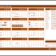 Microsoft Word template: 2011-2012 school year calendar (Mon-Sun). A simple school year calendar - to amend dates you have to use the formatting options for each date accordingly.