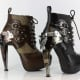 Steam Punk, clock inspired heels screwed together