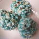 If you want, you can skip the oven step and just make popcorn balls.  Wrap in plastic wrap to store.