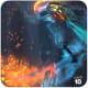 DOTA 2 Phantom Assassin flaming blades.