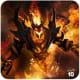 DOTA 2 Shadow Fiend in flame.