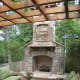 stone fireplace with raise hearth