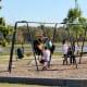 Playground equipment in Cypress Park