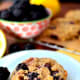Blackberry breakfast cookies