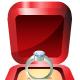 Platinum engagement ring in red velvet box
