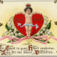 Cupid as the king of hearts vintage Valentine postcard
