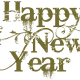 Cool Happy New Year font