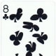 8 of clubs playing cards clip art