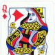 queen of diamonds with stretched effect