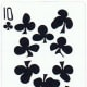 10 of clubs free playing cards clip art with stretched effect