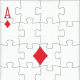 ace of diamonds with puzzle effect